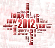 Concept of 2012 year theme. (word cloud vector illustration