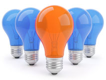 concept 3d avec des lampes Photo libre de droits