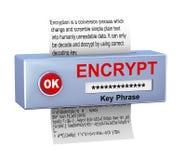 concept 3d de procédé de cryptage des données Images stock