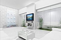 Concept 3D de salle de séjour Photographie stock