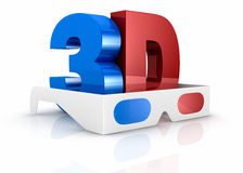 Concept of 3d movie technology Royalty Free Stock Photo