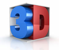 Concept of 3d movie technology Royalty Free Stock Image