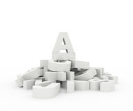 concept 3D pour votre blog Photos libres de droits