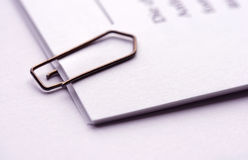 Concept. Important documents with paper clip Royalty Free Stock Photos