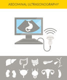 Concept abdominal d'échographie Photographie stock