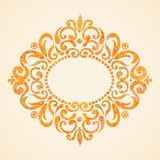 Concept abstract autumn frame with place for text. Ornament frame in Victorian style. Element for design. It can be used for decorating of invitations Royalty Free Stock Image