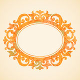 Concept abstract autumn frame with place for text. Ornament frame in Victorian style. Element for design. It can be used for decorating of invitations Royalty Free Stock Photography