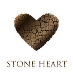 Concept abstract broken heart vector illustration. Royalty Free Stock Photography