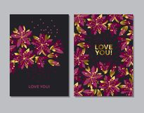 Concept abstract floral pattern. Tender flower banner, card Royalty Free Stock Images