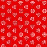 Concept abstract geometry diamond. Seamless pattern. brilliant linestyle vector illustration for surface design Royalty Free Stock Photos