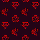 Concept abstract geometry diamond. Seamless pattern. brilliant linestyle vector illustration for surface design Stock Images