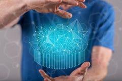 Concept abstract netwerk Royalty-vrije Stock Afbeelding