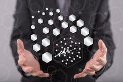 Concept abstract netwerk Stock Afbeeldingen