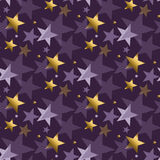Concept abstract starry night vector illustration. Stock Images