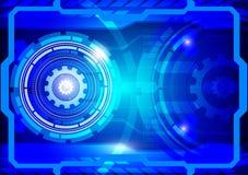 Concept abstrait bleu de technologie numérique de fond de vecteur, illustration de vecteur Photographie stock libre de droits