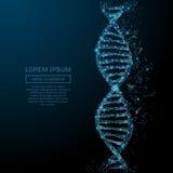 Concept abstrait d'ADN illustration de vecteur