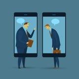 Concept abstrait d'affaires de communication illustration stock