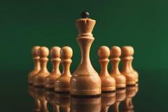 Concept abstrait d'affaires de direction avec des échecs Photographie stock