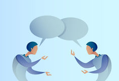 Concept abstrait de communication de bulle de Talking Chat Box de l'homme d'affaires deux, homme d'affaires Image stock