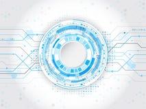 Concept abstrait de communication de circuit Fond avec divers Image libre de droits