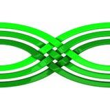 Concept abstrait de connexion, de réseau et d'unité, 3d Photos stock