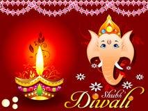 Concept abstrait de diwali avec le ganesh Image libre de droits