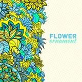 Concept abstrait de fond de fleur d'ornement Photo stock