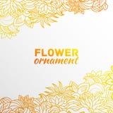 Concept abstrait de fond de fleur d'ornement Image libre de droits