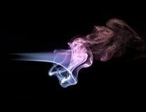 Concept abstrait de fumée sur le fond noir Photographie stock libre de droits
