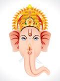 Concept abstrait de tête de ganesha Photographie stock