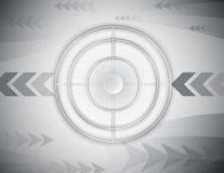 Concept abstrait de technologie numérique de cible de champ de tir illustration libre de droits