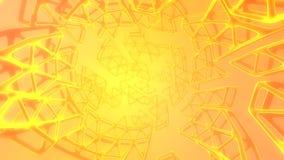 Concept abstrait du rendu 3d de haute poly sphère avec la structure mulecular cellulaire de grille chaotique de maille Fond de la illustration de vecteur