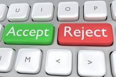 Concept acceptez/rejet Image stock