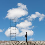 Concept of access to clouds Royalty Free Stock Photos