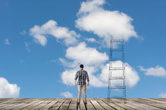 Concept of access to clouds Stock Photography