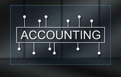 Concept of accounting. Accounting concept on dark background Royalty Free Stock Image