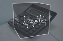 Concept of accounting Stock Images