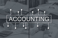 Concept of accounting Stock Photos