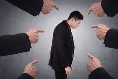 Concept of accused businessman Stock Images