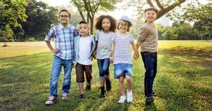 Concept actif de parc de progéniture d'enfants d'enfance d'enfant Photos libres de droits