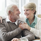 Concept adulte supérieur de relations d'amour de couples Photographie stock