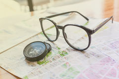 Concept of adventure travel for glasses Royalty Free Stock Image