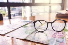 Concept of adventure travel for glasses Stock Photos