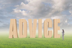Concept of advice Stock Photo