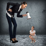 Concept of aggression Royalty Free Stock Images