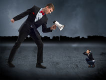 Concept of aggression Royalty Free Stock Photography