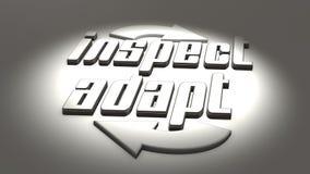 Concept agile : inspectez et adaptez Photos libres de droits