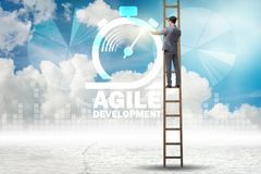 The concept of agile software development Stock Photography