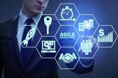 The concept of agile software development Stock Photo