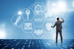 The concept of agile software development. Concept of agile software development Stock Photos